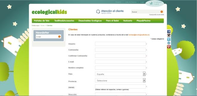 Registo Ecologicalkids.es